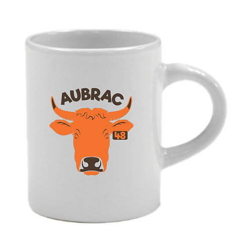 6 TASSES A CAFÉ - AUBRAC 48 LOZERE - ORANGE