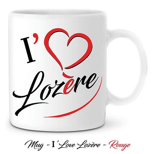 MUG EN CÉRAMIQUE BLANC - I'LOVE LOZÈRE