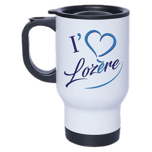 MUG ISOTHERME I LOVE LOZERE - BLEU
