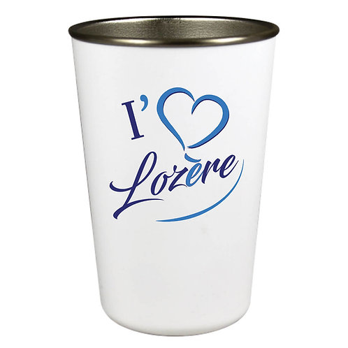GOBELET INOX - I LOVE LOZERE - BLEU