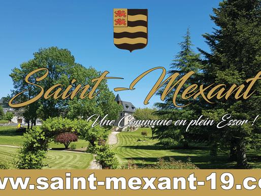 Nouveau site internet réalisé par ACTION COM 19 pour la Commune de Saint-Mexant en Corrèze