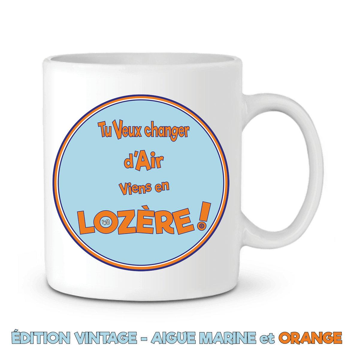 Blanc 48 Céramique Slogan Le Mug Série En LozèreLozere Vintage NwPy0vm8nO
