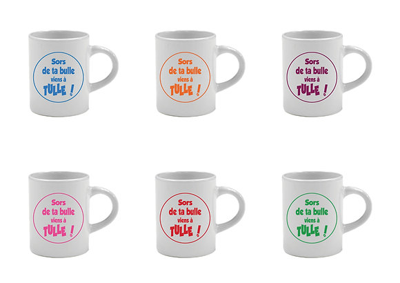 6 TASSES EXPRESSO - SORS DE TA BULLE VIENS A TULLE -  COLLECTION