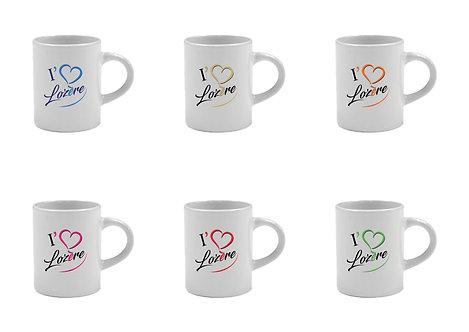 6 TASSES A CAFÉ - I LOVE LOZERE LOZERE - LA COLLECTION