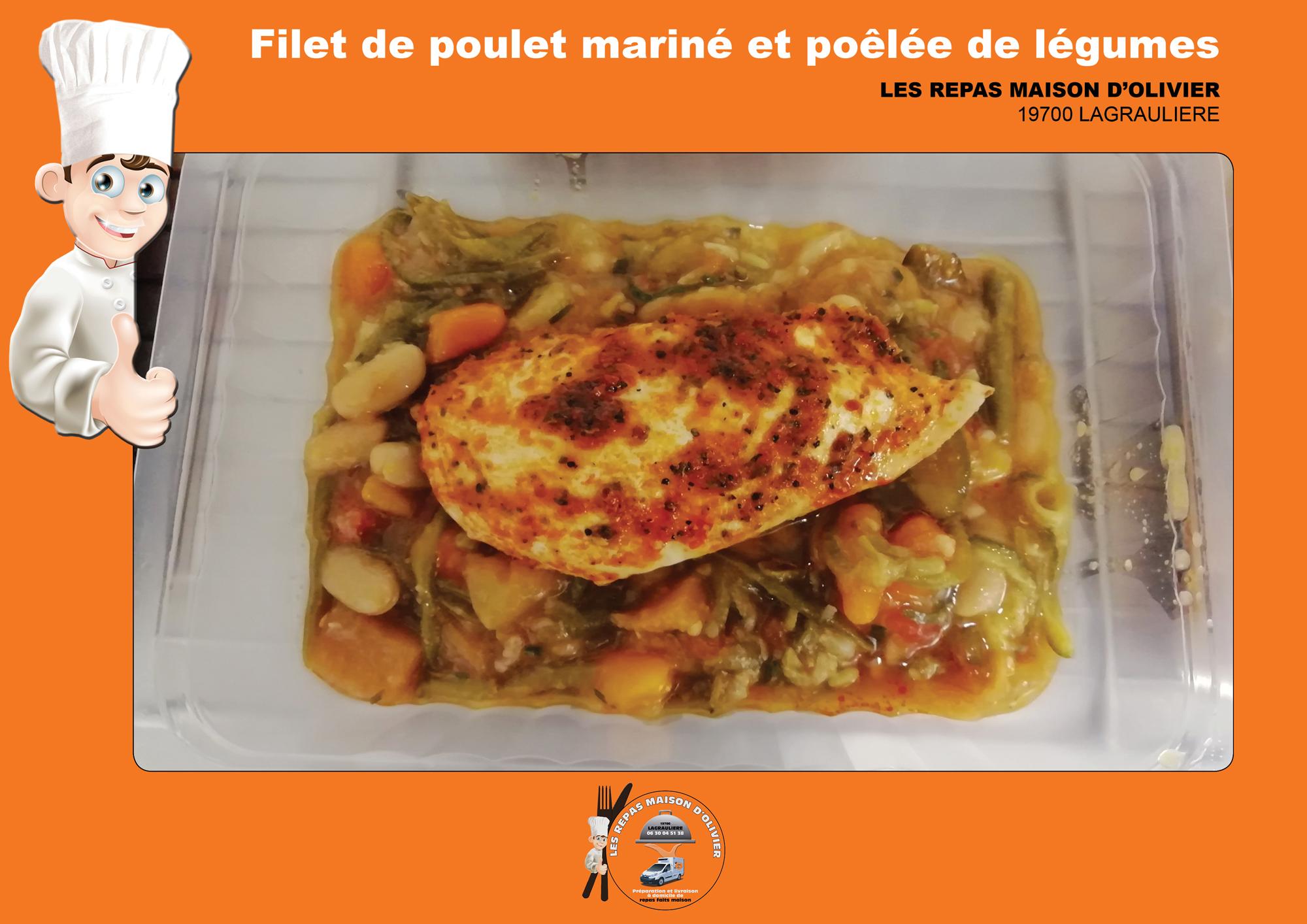 Filet-de-poulet-mariné-et-sa-poêlée-de-l