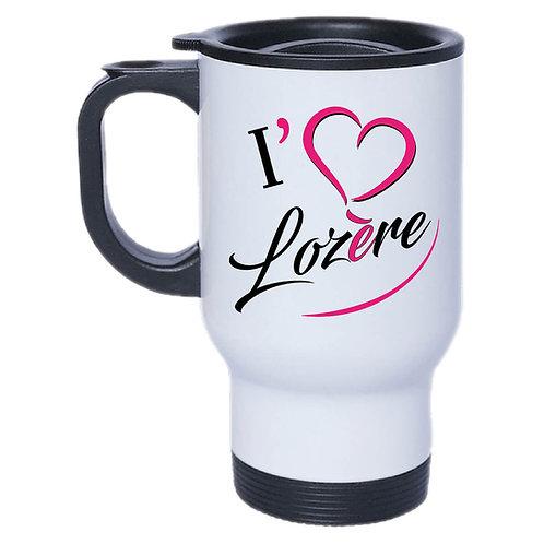 MUG ISOTHERME I LOVE LOZERE - ROSE
