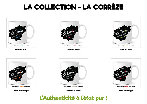 LA COLLECTION DE 6 MUGS  - LA CORREZE