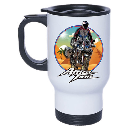 MUG ISOTHERME INOX AFRICA TWIN CRF 1100 - PYRAMIDES ET PALMIER