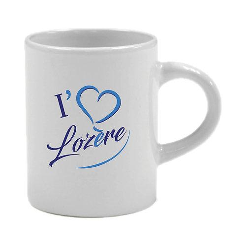 6 TASSES A CAFÉ - I LOVE LOZERE - BLEU