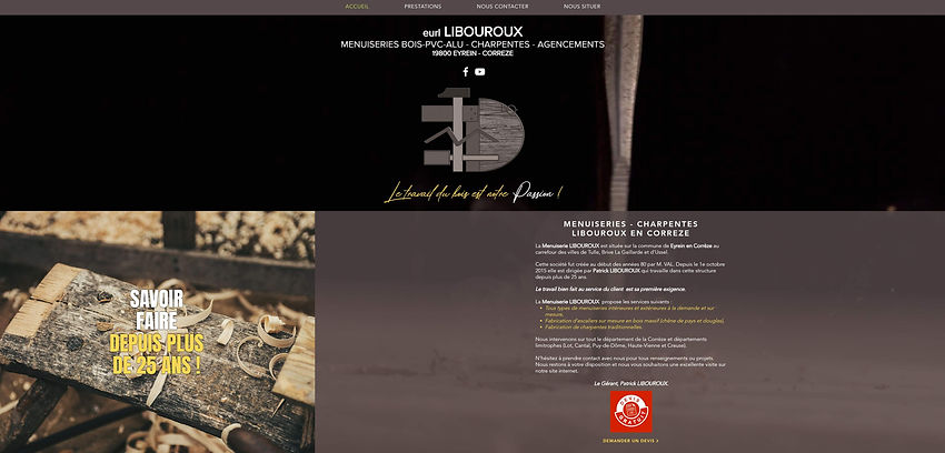 MENUISERIE LIBOUROUX A EYREIN EN CORREZE