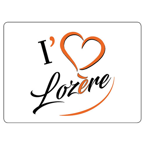 MAGNET - I LOVE LOZERE - ORANGE