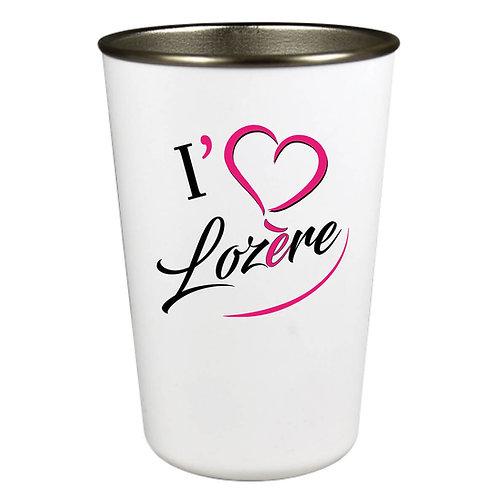 GOBELET INOX - I LOVE LOZERE - ROSE