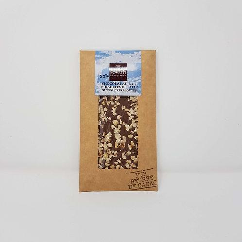 Chocolat au Lait Noisettes Sans Sucres