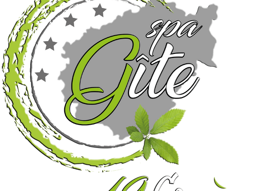 Réalisation du logo du Gîte Spa Bien Être à Saint Germain Les Vergnes en Corrèze.