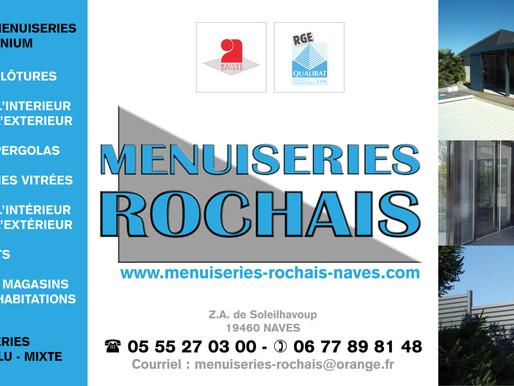 """Réalisation d'un nouveau site internet pour la """"sarl MENUISERIES ROCHAIS"""" à Naves."""