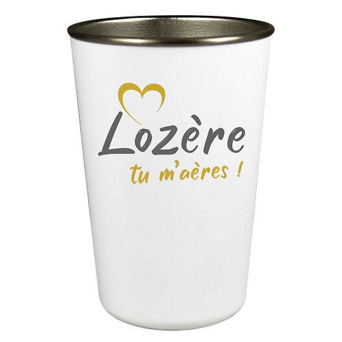 GOBELET INOX - LOZERE TU M'AERES - OR