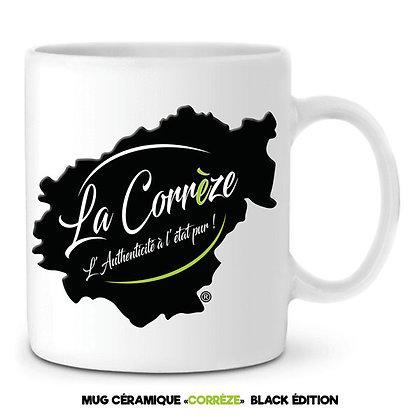 MUG EN CÉRAMIQUE - LA CORREZE - Noir et Vert