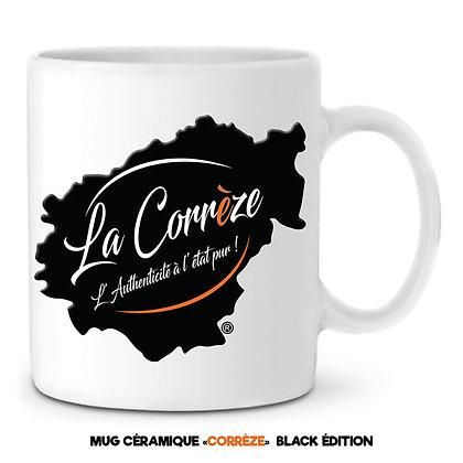 MUG EN CÉRAMIQUE - LA CORREZE - Noir et Orange