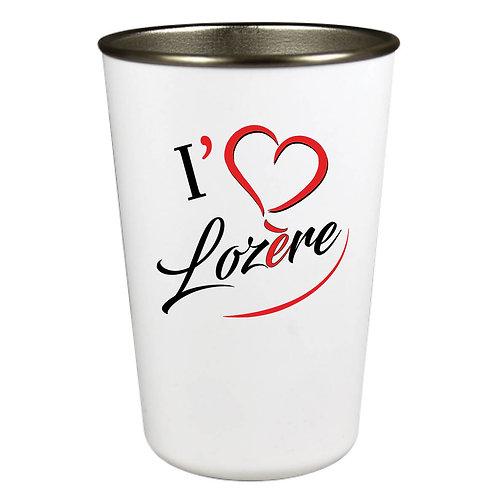 GOBELET INOX - I LOVE LOZERE - ROUGE