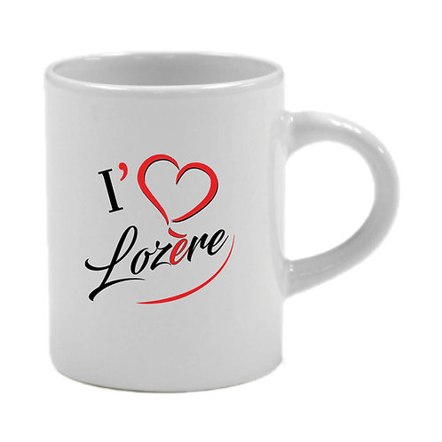 6 TASSES A CAFÉ - I LOVE LOZERE - ROUGE