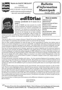 BULLETIN MUNICIPAL 3 DE SAINT MEXANT EN CORREZE