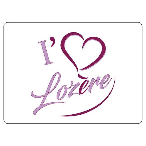MAGNET - I LOVE LOZERE - LAVANDE