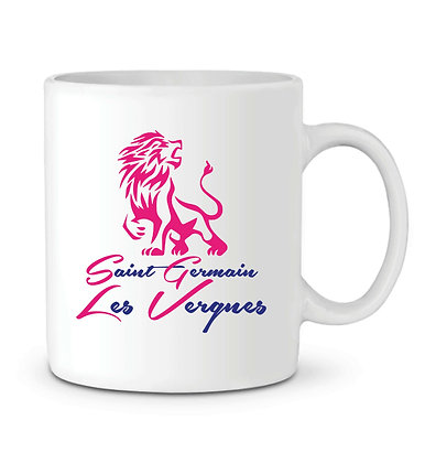 MUG ST GERMAIN LES VERGNES ROSE