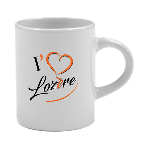 6 TASSES A CAFÉ - I LOVE LOZERE - ORANGE