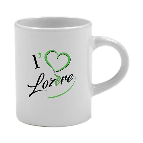 6 TASSES A CAFÉ - I LOVE LOZERE - VERT
