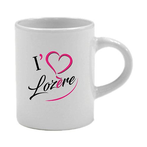 6 TASSES A CAFÉ - I LOVE LOZERE - ROSE