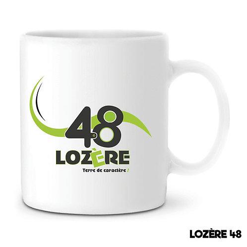 MUG EN CÉRAMIQUE BLANC - LOZERE 48