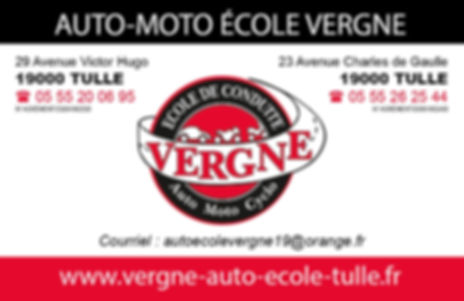 AUTO MOTO ECOLE VERGNE A TULLE CARTE DE