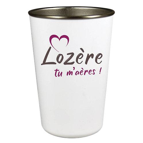 GOBELET INOX - LOZERE TU M'AERES - PURPLE