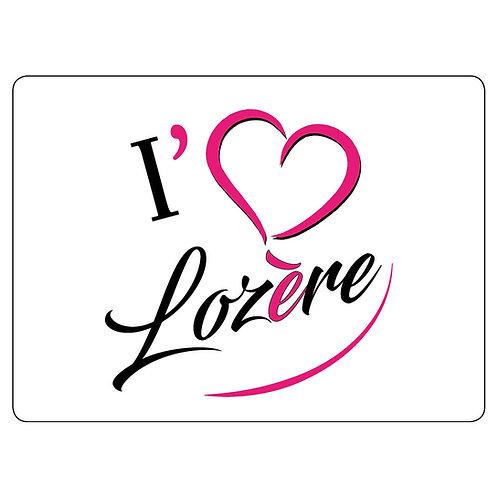 MAGNET - I LOVE LOZERE - ROSE