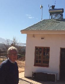 Klaus und ein Solar Geyser