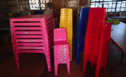 Neue Tische und Stühle...............