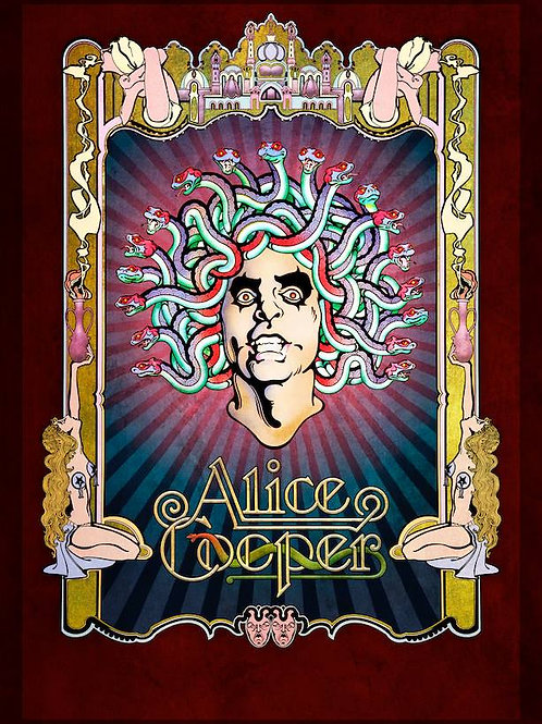 """Alice Cooper """"Alice At The Palace Poster"""""""