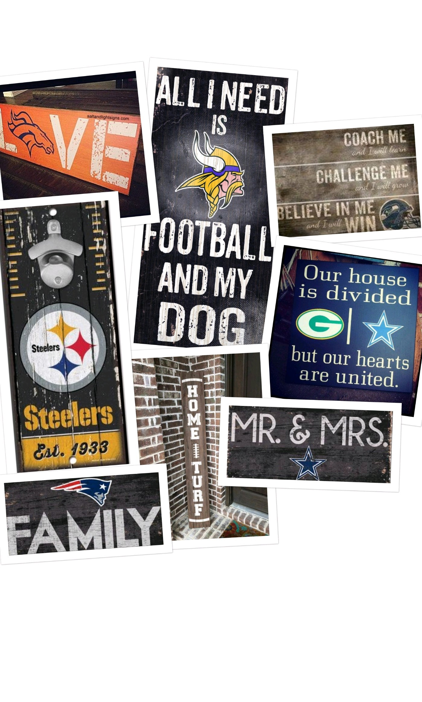 NFL Theme Signs