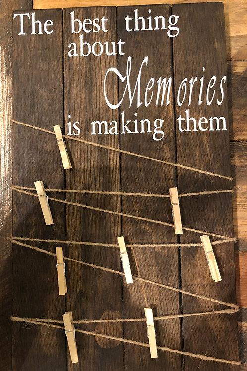 """Memories"" Sign"
