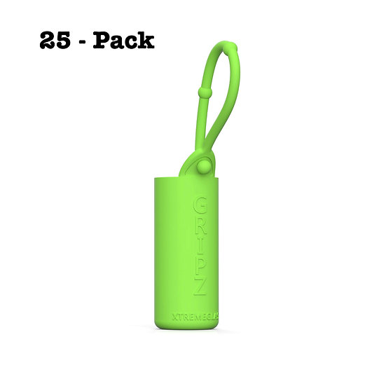 25-Pack Roller Bottle Essential Oil Sleeve - GREEN