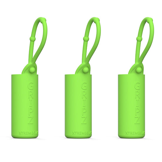 3-Pack Roller Bottle Essential Oil Sleeve - GREEN