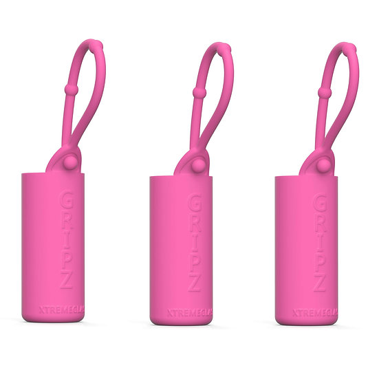 3-Pack Roller Bottle Essential Oil Sleeve - PINK