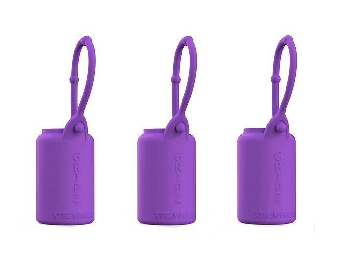 3-pack 15ml Essential Oil Sleeves - PURPLE