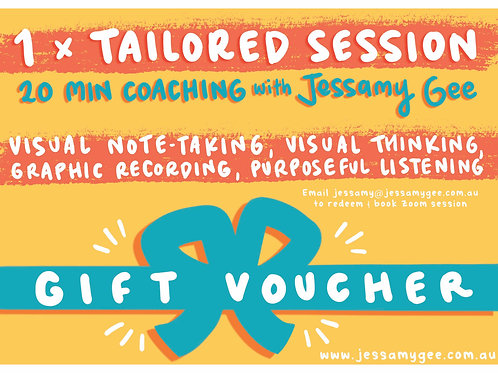 20min Tailored One-on-One Coaching - Gift Voucher
