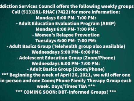 Addiction Services Council - 4/9/2021