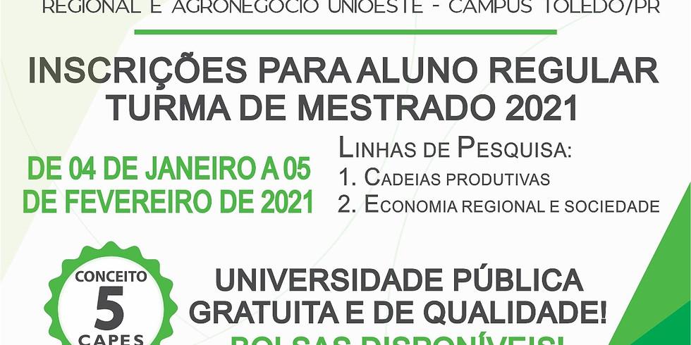 Edital de Mestrado Alunos Regulares 2021