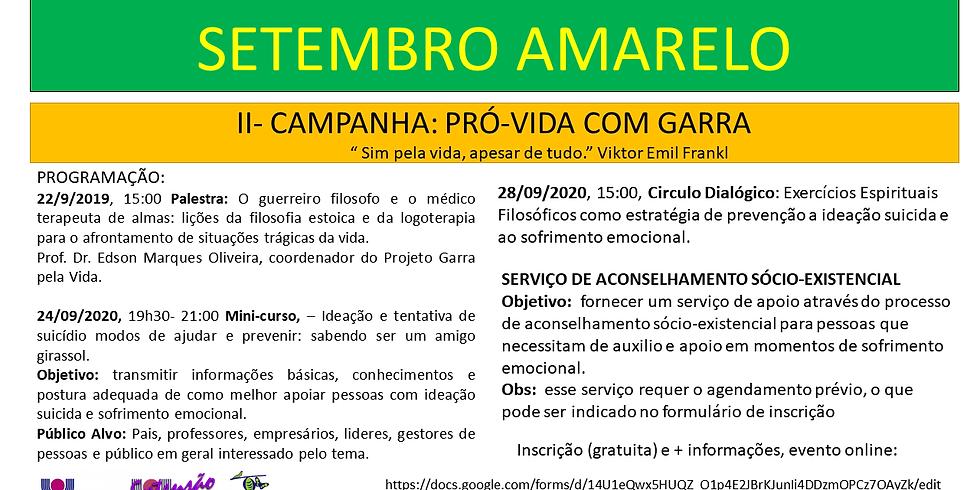 MAIO AMARELO  - II CAMPANHA PRÓ-VIDA COM GARRA