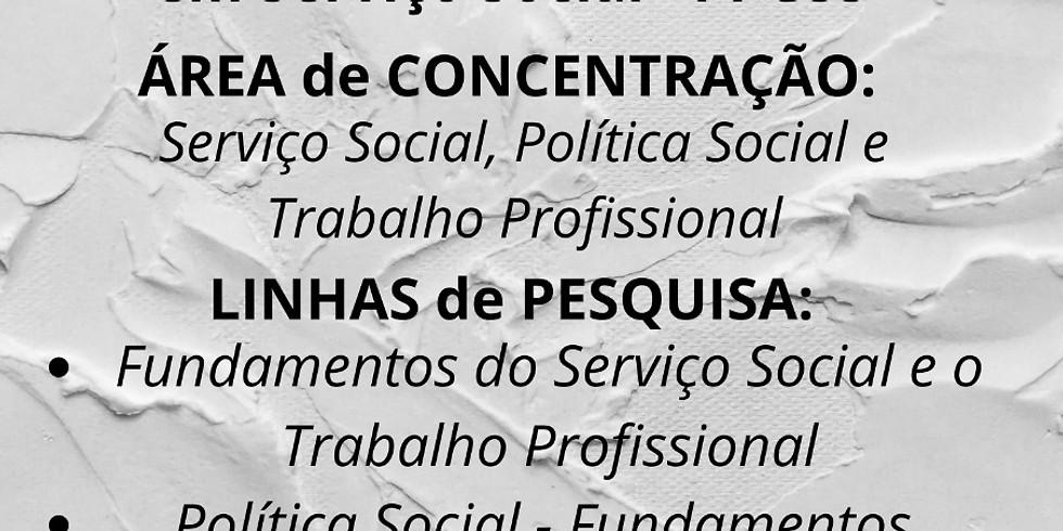 EDITAL PARA ALUNO REGULAR NO PROGRAMA DE PÓS GRADUAÇÃO EM SERVIÇO SOCIAL – PPGSS – UNIOESTE – CAMPUS TOLEDO