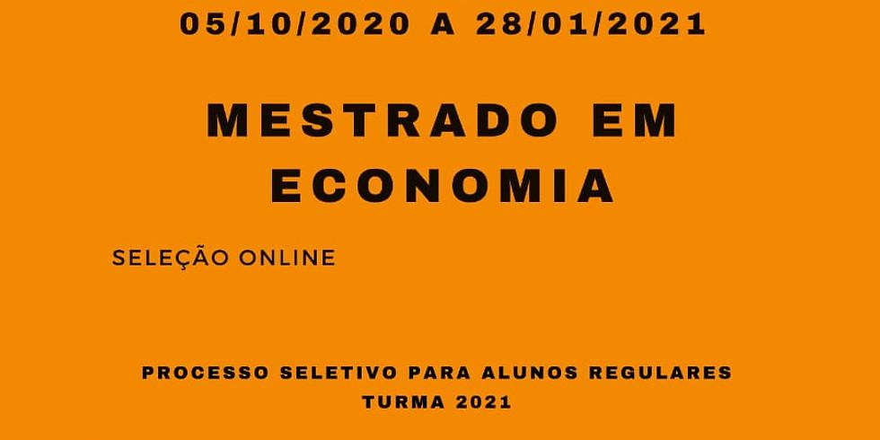 Edital de Inscrição para  Aluno Regular no Programa de Pós-graduação em Economia