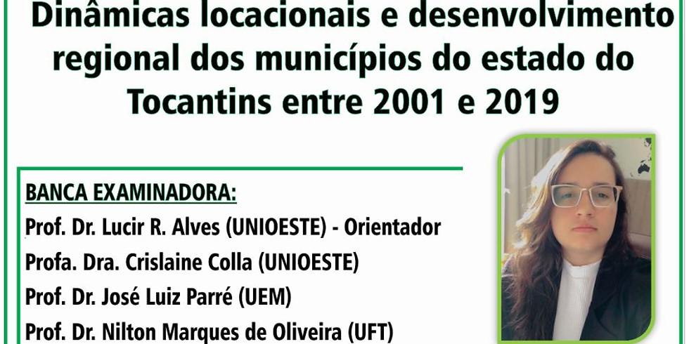 DINÂMICAS LOCACIONAIS E DESENVOLVIMENTO REGIONAL DOS MUNICÍPIOS DO ESTADO DO TOCANTINS ENTRE 2001 E 2019